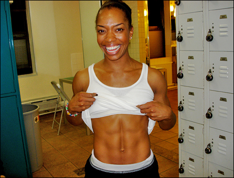 I mean, six pack of my personal trainer, Maia Evwaraye-Griffin, that is.  Maia is also currently in Wicked on Broadway!