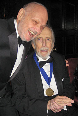 Charles Strouse and honoree Fritz Weaver