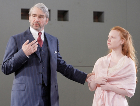 Sam Waterston and Lauren Ambrose in Hamlet, 2008