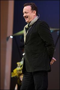 Tom Hanks onstage at Easter Bonnet