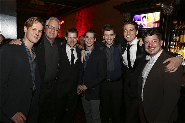 Will Taylor, Book and Lyrics Writer Bruce Sussman and cast members Matt Bailey, Chris Dwan, Shayne Kennon, Douglas Williams and Will Blum