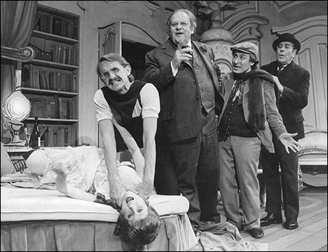 Julie Harris, Rene Auberjonois, Jack Weston, David Margulies and Joseph Leon in Break a Leg, 1979