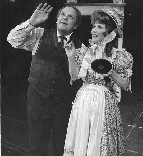 Jack Weston and Julie Harris in Break a Leg, 1979