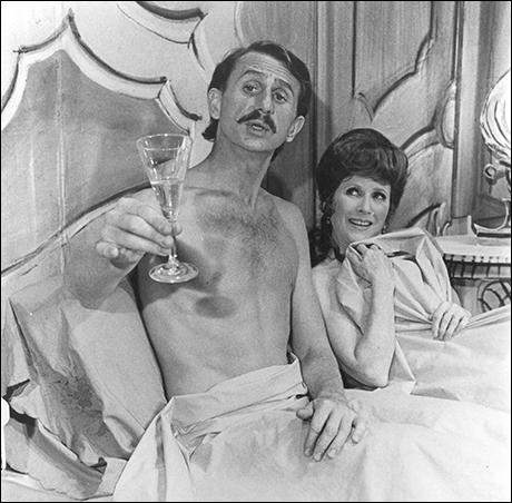 Rene Auberjonois and Julie Harris in Break a Leg, 1979
