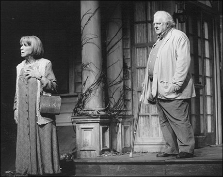 Julie Harris and Charles Durning in The Gin Game, 1997