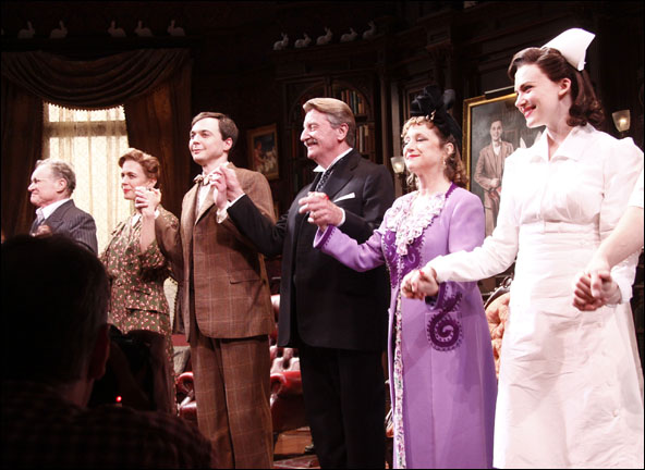 Charles Kimbrough, Jessica Hecht, Jim Parsons, Larry Bryggman, Carol Kane and Holley Fain