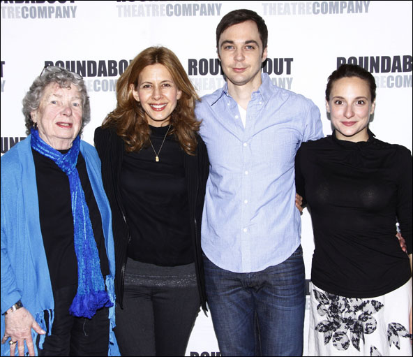 Angela Paton, Jessica Hecht, Jim Parsons and Tracee Chimo