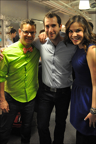 Michael Holland, Dave Solomon and Lindsay Mendez