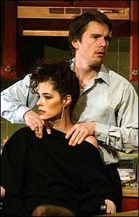 Ethan Hawke and Parker Posey in <I>Hurlyburly</I>
