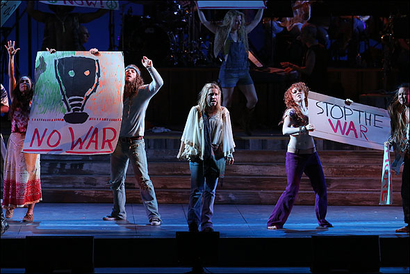 Kristen Bell and the cast of Hair