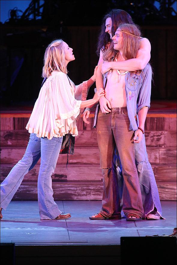 Kristen Bell, Hunter Parish and Benjamin Walker