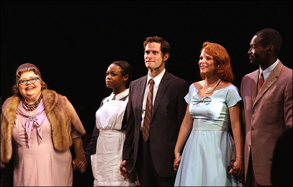 Mary Stout, Quincy Tyler Bernstine, Steven Pasquale, Kelli O'Hara and Isaiah Johnson