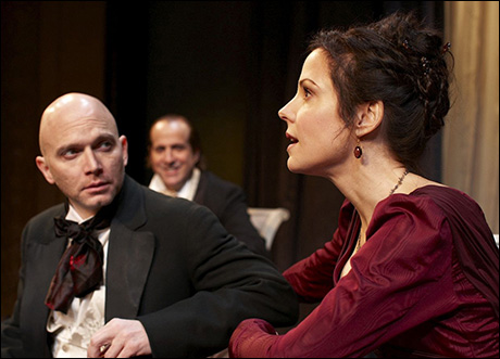 Michael Cerveris, Peter Stormare and Mary-Louise Parker in Hedda Gabler