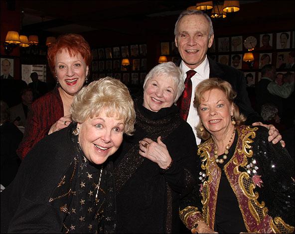 Jeanne Lehman French, Mary Jo Catlett, Jan LaPrad, Ron Young and Joan Buttons Leonard
