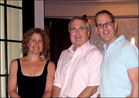 Roundabout executive director Julia Levy, artistic director Todd Haimes and managing director Harold Wolpert