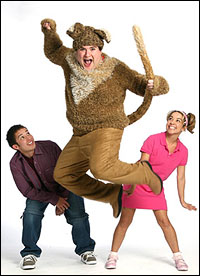 Joseph A. Morales, Todd Buonopane and Jennifer Cody in <i>Henry and Mudge</i>