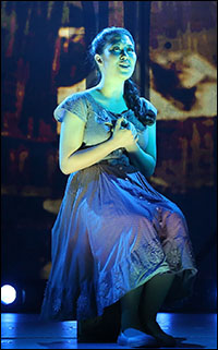 Ruthie Ann Miles in <i>Here Lies Love</i>.