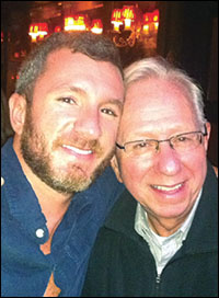 Writer Adam Hetrick with his dad, Harold