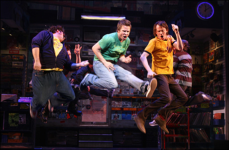 Jay Klaitz, Will Chase, and Christian Anderson in High Fidelity on Broadway