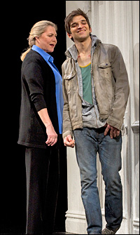 Kathleen Turner and Evan Jonigkeit in <i>High.</i>