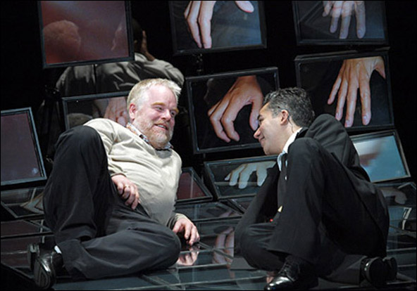 Philip Seymour Hoffman and John Ortiz in the 2009 Off-Broadway revival Othello.