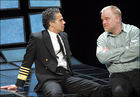John Ortiz and Philip Seymour Hoffman in the 2009 Off-Broadway revival Othello.