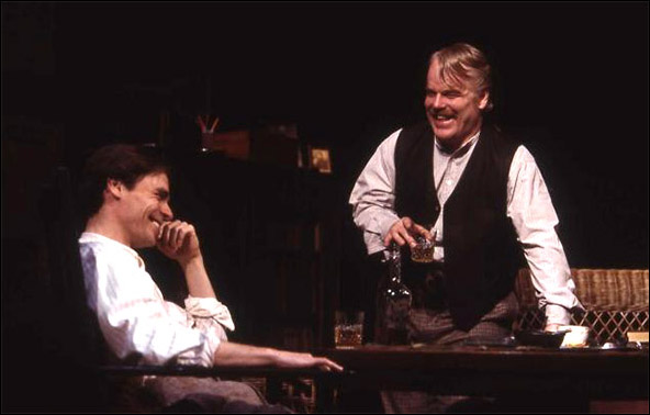 Robert Sean Leonard and Philip Seymour Hoffman in the 2003 Broadway revival Long Day's Journey Into Night.