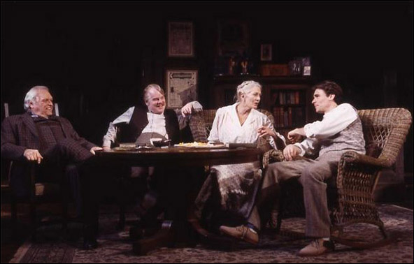 Brian Dennehy, Philip Seymour Hoffman, Vanessa Redgrave and Robert Sean Leonard in the 2003 Broadway revival Long Day's Journey Into Night.