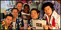 """PHOTO EXCLUSIVE: """"A Little Luck!"""" Backstage at Paper Mill's Honeymoon in Vegas With Raymond J. Lee a"""
