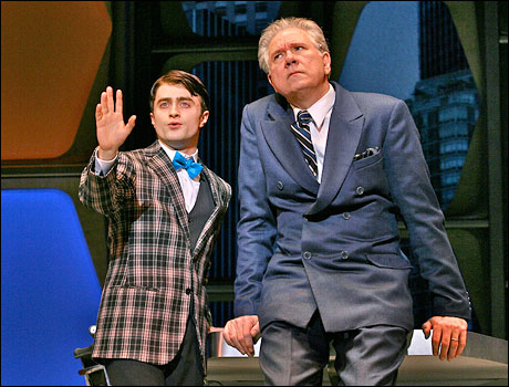 Daniel Radcliffe and John Larroquette  in How to Succeed in Business Without Really Trying