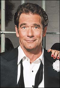 Huey Lewis as Billy Flynn in a promotional shot for the Broadway revival of <I>Chicago</I>.