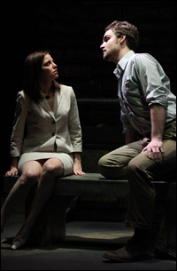 Laura Heisler and Micah Stock in <i>Michael von Siebenburg Melts Through the Floorboards</i>