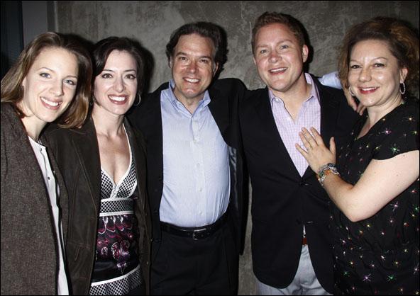 Jessie Mueller, Kathy Voytko, Larry Adams, George Andrew Wolff and Amy Warren