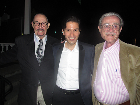 Our composers James McDonald (left) and Robert Gerlach (right) with our director Vince Pesce.