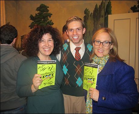 Marcy Heisler, Zina Goldrich, and the super handsome actor playing Geoffrey.  They are some of the best composers I know.  And the sweetest women alive.