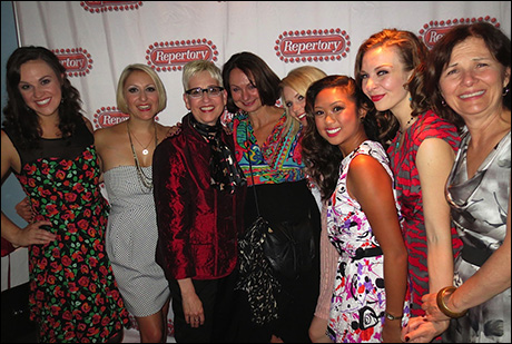 Our fearless leader Marcia Milgrom-Dodge and fabulous Costume Designer Angela Wendt with the ladies of Cabaret.