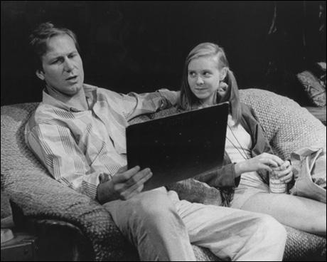 William Hurt and Cynthia Nixon in Broadway's Hurlyburly, 1984