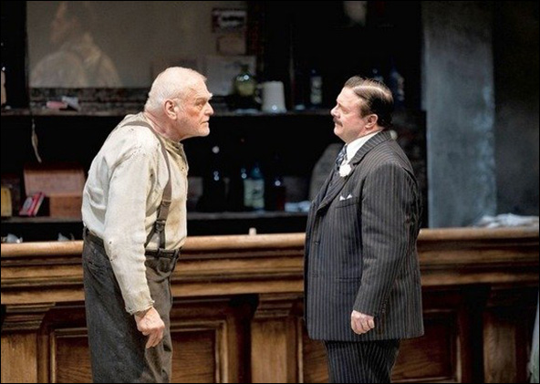 Brian Dennehy and Nathan Lane (L-R) starred in the new Robert Falls-directed production of Eugene O'Neill's The Iceman Cometh at the Goodman Theatre in Chicago.