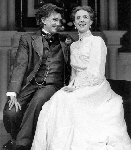 Martin Shaw and Victoria Hasted in the 1996 Broadway revival of An Ideal Husband.