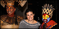 Idina Menzel Visits Broadway's The Lion King