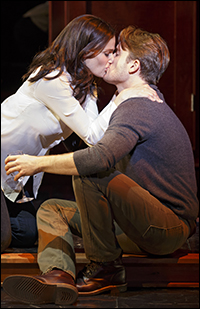 Idina Menzel and James Snyder in <i>If/Then</i>.