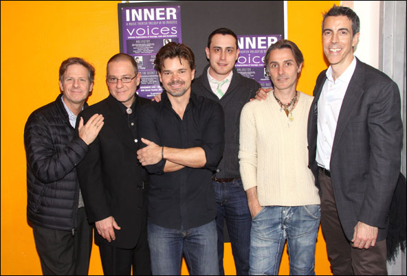Martin Moran, Leo Grinhauz, Hunter Foster, Paul Masse, Jonathan Butterell and Joseph Thalken