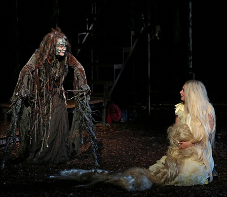 Donna Murphy and Tess Soltau in the Shakespeare in the Park production