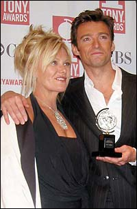 Hugh Jackman, with wife Deborah