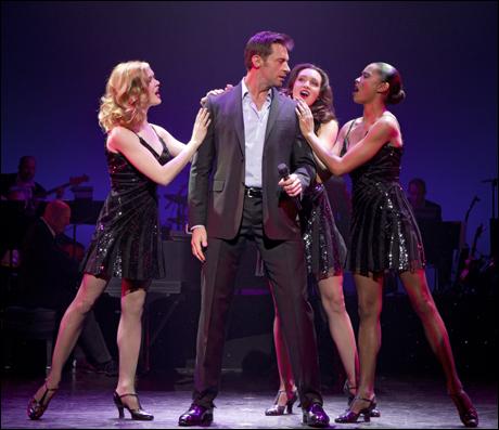 Hugh Jackman with Emily Tyra, Lara Seibert and Kearran Giovanni in Hugh Jackman, Back on Broadway