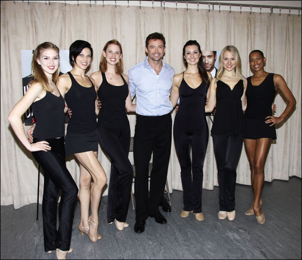 Emily Tyra, Anne Otto, Hilary Michael Thompson, Hugh Jackman, Lara Seibert, Robin Camobell and Kearran Giovanni