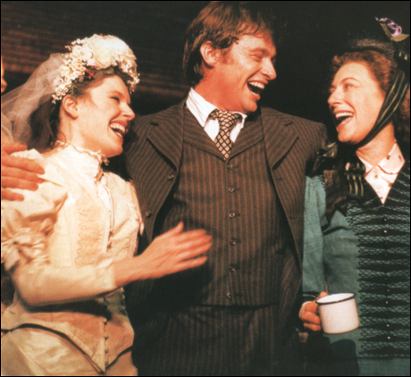 Josefina Gabrielle, Hugh Jackman and Maureen Lipman in Oklahoma!, London