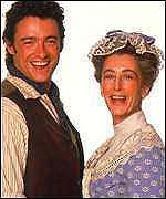 Hugh Jackman and Maureen Lipman in Nunn's <i>Oklahoma!</i>.