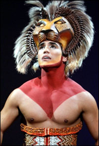 Adam Jacobs in <i>The Lion King</i>.