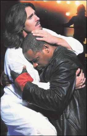 Eric Kunze and Lawrence Clayton in an early 2000's national tour